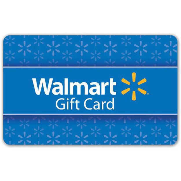 Picture of $50 Basic Blue Walmart Gift Card