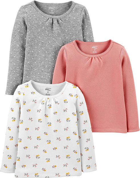 Picture of Simple Joys by Carter's Baby and Toddler Girls' Multi-Pack Long Sleeve Tops