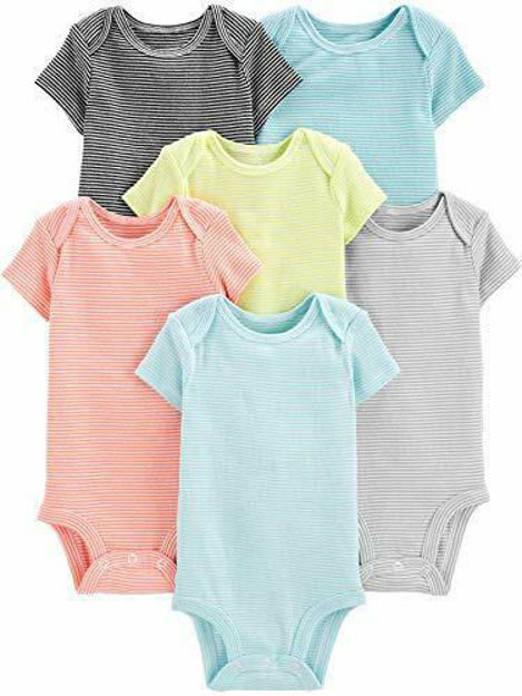 Picture of Simple Joys by Carter's Baby 6-Pack Short-Sleeve Bodysuit