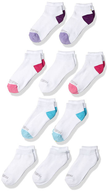 Picture of Fruit of the Loom Girls' Little Low Cut with Half Cushion 10 Pack Sock