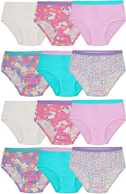Picture of Fruit of the Loom Toddler Girls' Tag-Free Cotton Underwear
