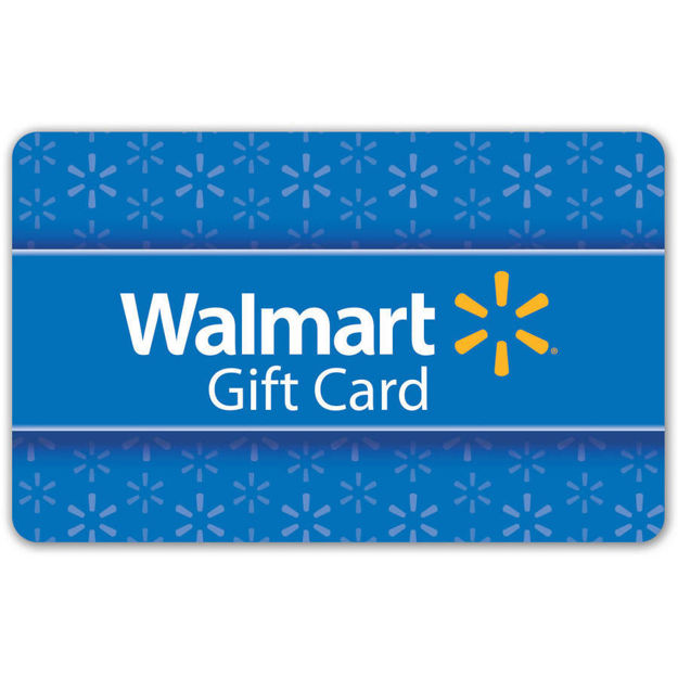 Picture of $25 Basic Blue Walmart Gift Card